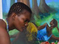 Ghanain Artist Dazzles With Stunning Paintings From Her Art…